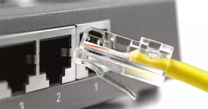 Laptop gubi sieć lan